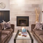 Facing Sofas, Gas Fireplace, Taupe Marble Fireplace, Cable Stair Railing, Pocket Doors