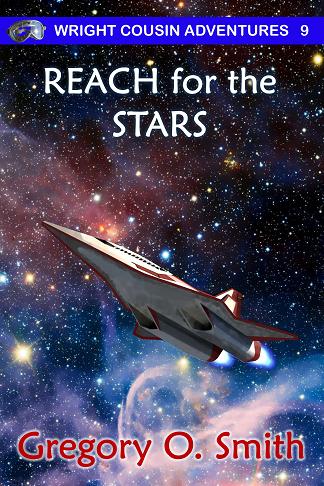 Picture of futuristic spaceplane with nebulae