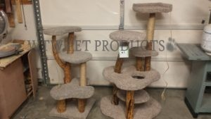 two custom cat trees
