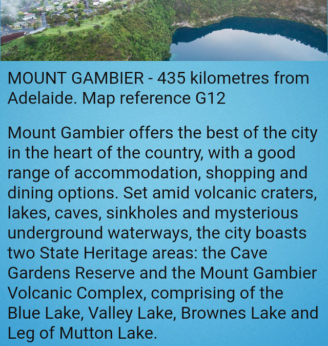 Mount Gambier app published in November 2018