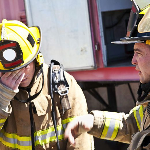Fireman with depression