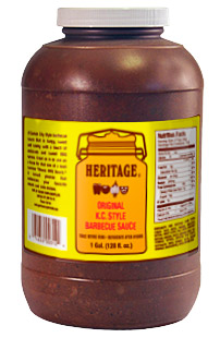 picture of large container of Heritage Original KC Style Barbecue Sauce