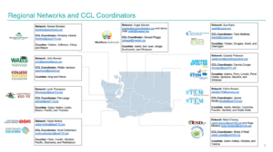 Career Connect Washington Updated Map of Networks and Coordinators 072621