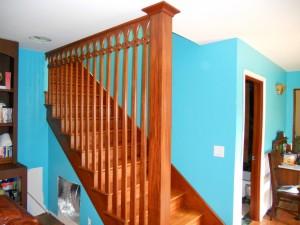 Mahogany stair case banester