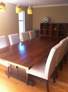 Walnut/ maple dinning table