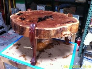 Elm stump coffee table