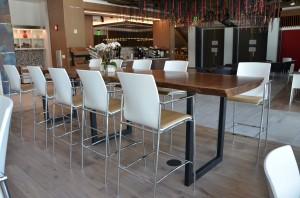 Custom live edge walnut cafeteria table