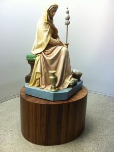 Walnut statue base