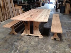 Reclaimed Doug Fir picnic table