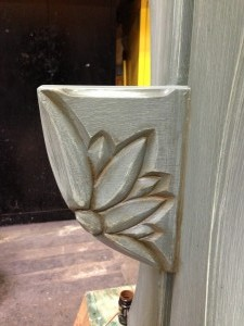 Urban Elm hall table carving