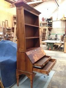Urban Black Accacia Secratery desk and bookcase
