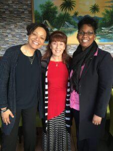 Susan with Pastor Jolanda, Bishop Xiomara from Revival Impact Centre, Amsterdam