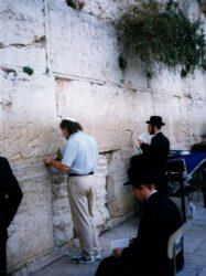 Pastor Gerald at the Wailing Wall
