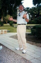 Pastor Gerald teaching at the Garden Tomb