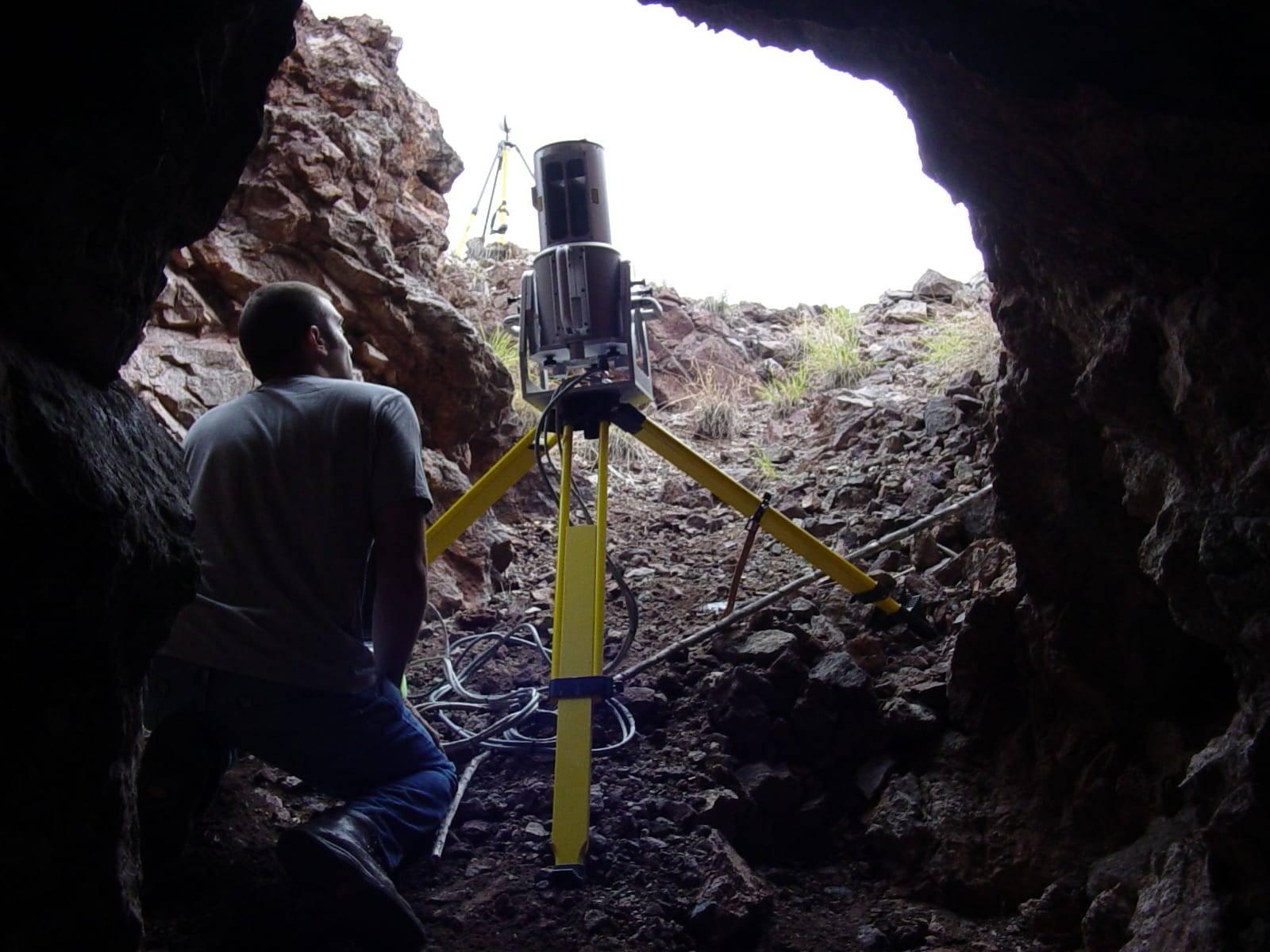 scanner inside cave