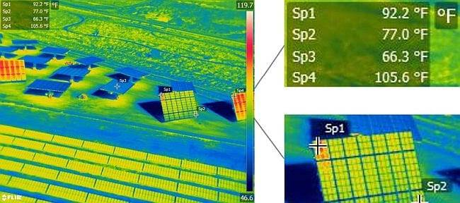 Aerial radiometric imagery provides georeferenced data on every pixel of the thermal image