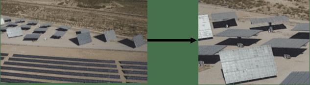 True color aerial photos of solar panels