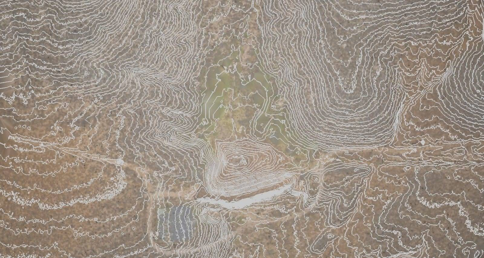 topographic map from data captured by one of our drones in Arizona