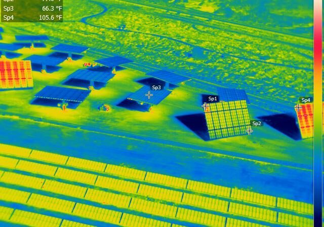 Aerial radiometric imagery provides georeferenced data on every pixel of the thermal image.