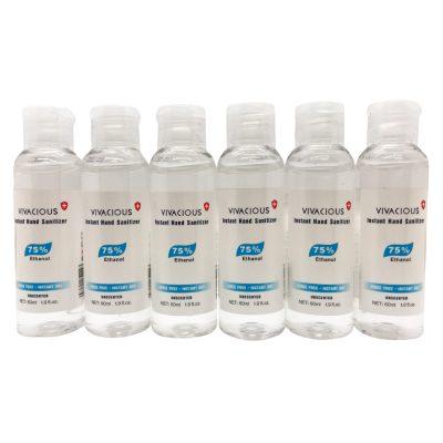 Hand Sanitizer 6 Bottles 2oz