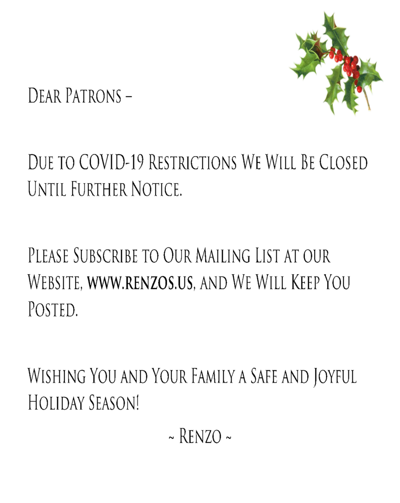 Holiday 2020 Closure Flyer