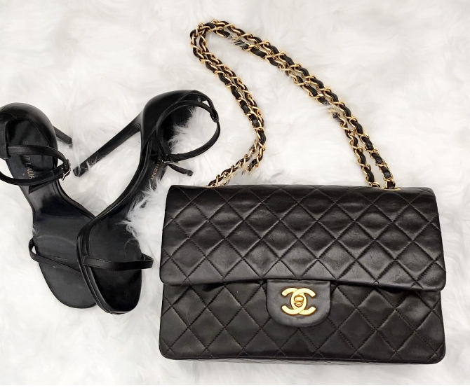 YSL heels and Classic Chanel Flap