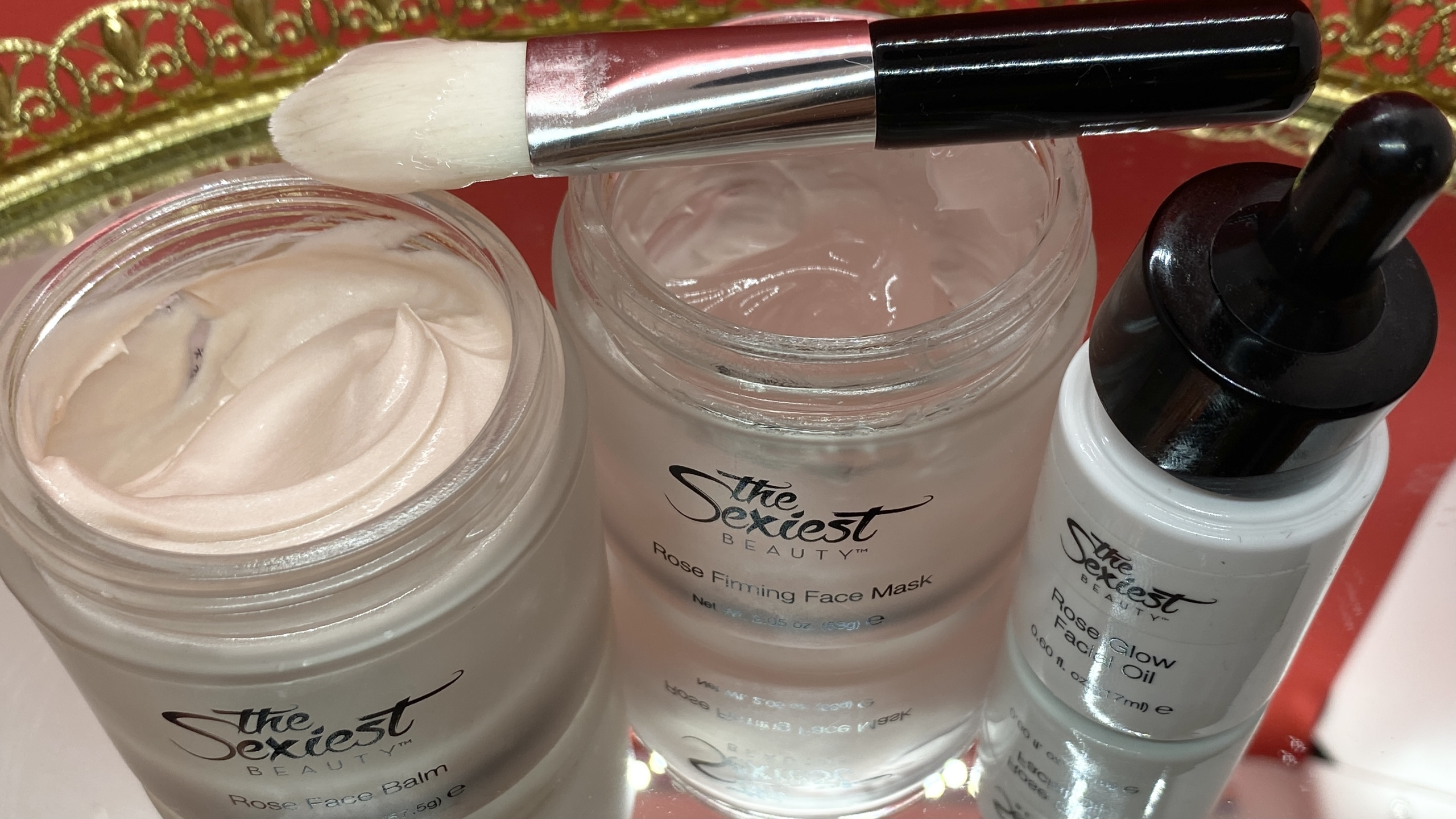 The Sexiest Beauty mask, balm, oil and brush