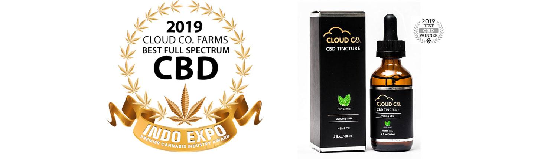awards Cloud Co Farms CBD Tincture Oil Distributors in Washington State