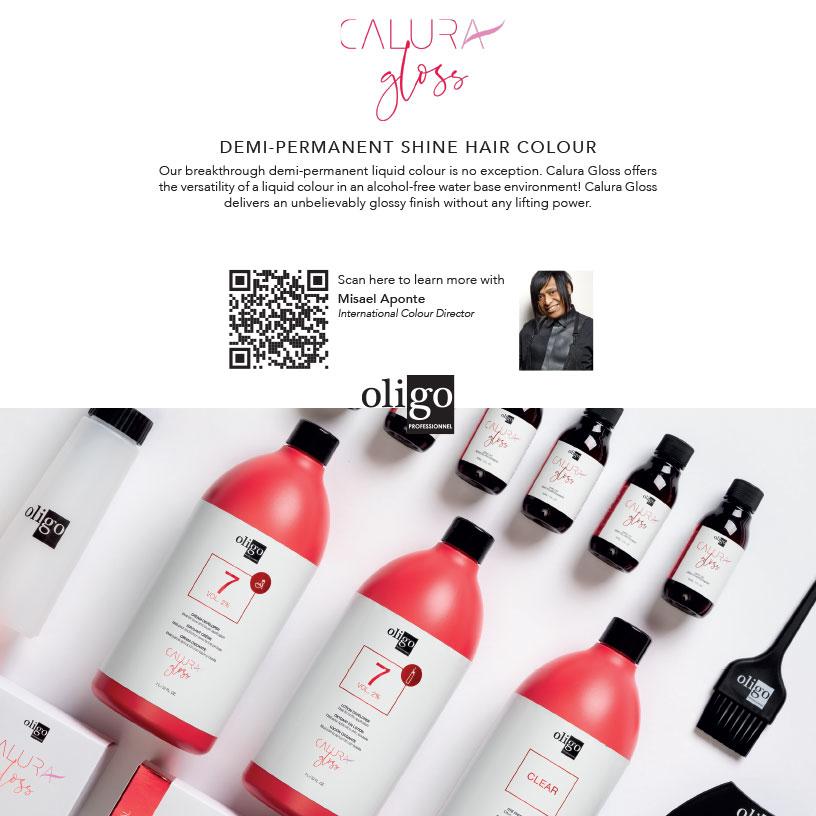 Misael Aponte Oligo Calura Gloss demi-permanent color classes