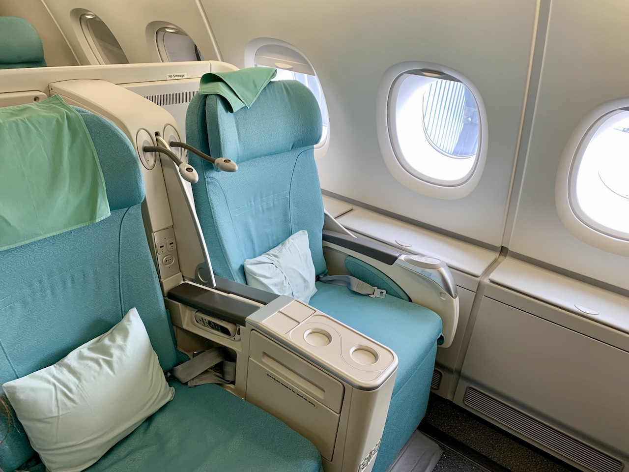 Korean Airlines lie flat business class