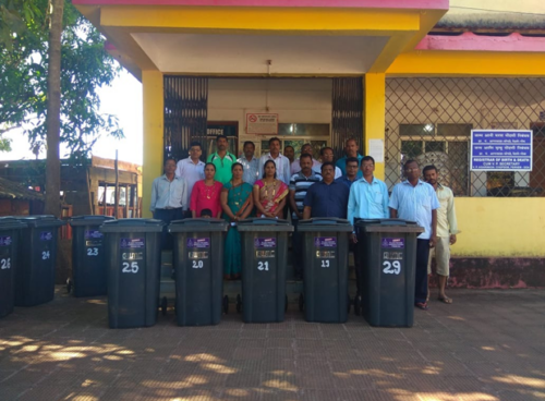 Distribution of Dustbins to Schools, Temples and Church's