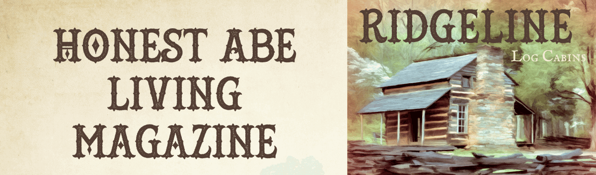graphic of honest abe log homes magazine