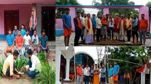 जगदीशपुर के धार्मिक स्थलों की मिट्टी बजरंग दल ने राम मंदिर भूमिपुजन हेतु अयोध्या भेजी