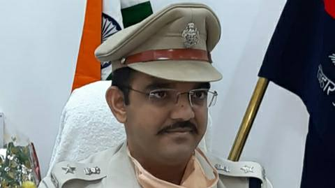 sp-Bhojpur- Businessman' son shot
