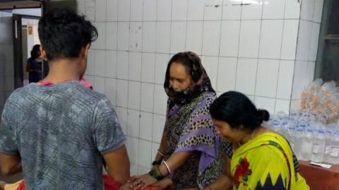 आरा में चापाकल के पास गिरने से महिला की मौत