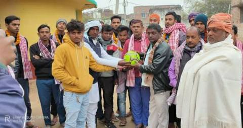 Winner of Bhojpur Football Championships honored team