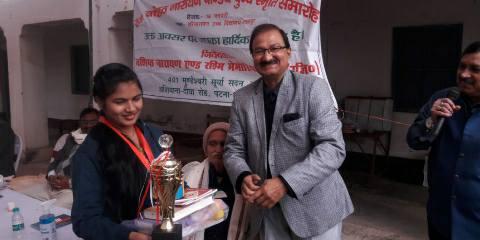 Top students awarded at Shahpur Harinarayan High School
