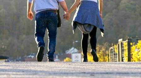 Intermediate student with boyfriend left exam