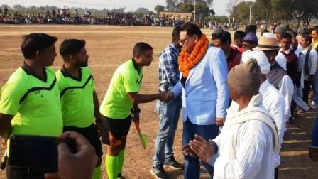 Karisath-Jadavpur team wins by one goal in football match