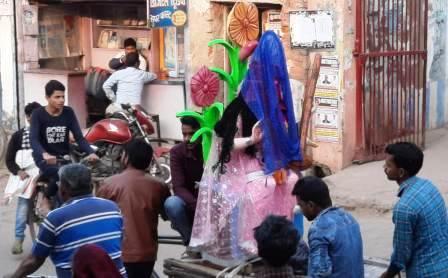 Preparations for Maa Saraswati Puja in full swing