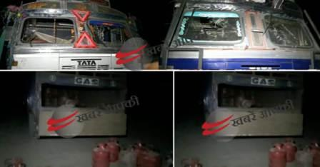 Demolition of trucks, gas cylinders were also looted