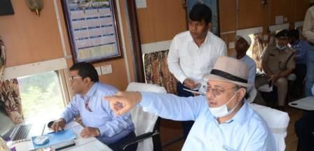 GM Inspection-Patna-Buxar railway line