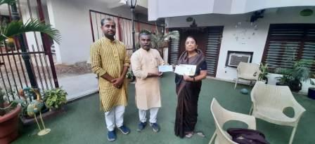 Dr. Madhu Sinha gave fund for Ram temple