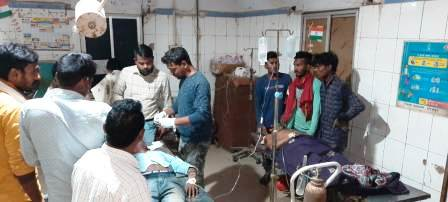injured three in road accident