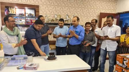 Celebration on achievement of Mahindra tractor