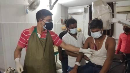 Youth shot Dhudhua
