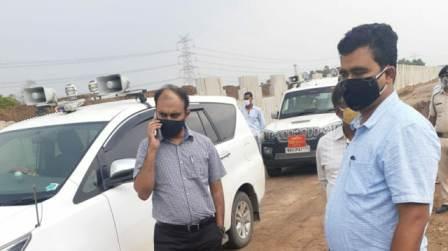 DM inspects Patna-Buxar Fourlane