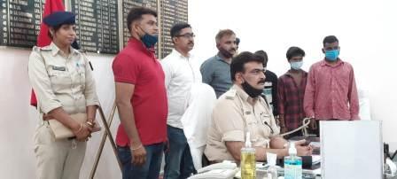 Bhojpur police success, big bike thief gang exposed