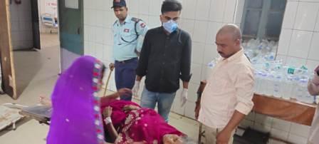 Kahen Jagdishpur- woman Injured