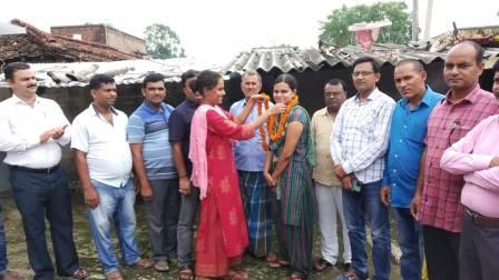 Maneka Kumari of Hardia Jagdishpur became the Inspector